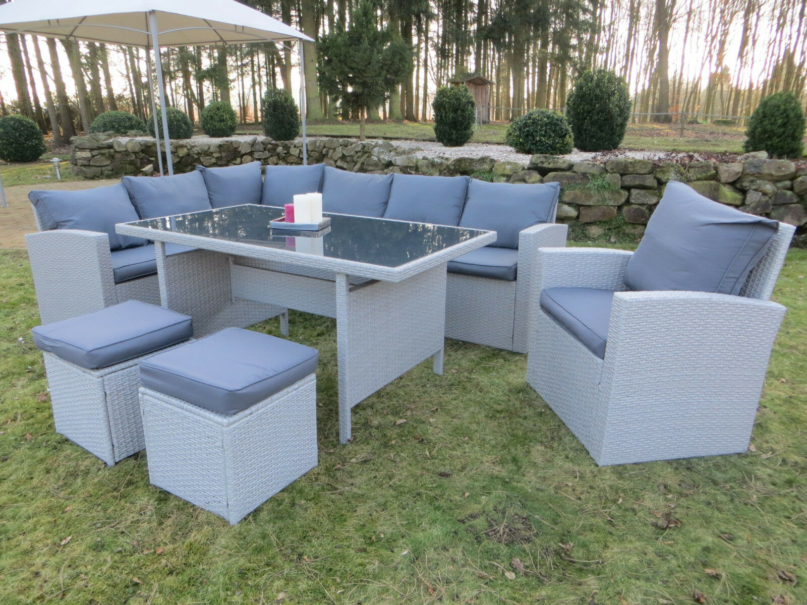 polyrattan lounge set milos xl sitzgruppe gartenm bel garnitur gruppe hoch eck eur 899 00. Black Bedroom Furniture Sets. Home Design Ideas