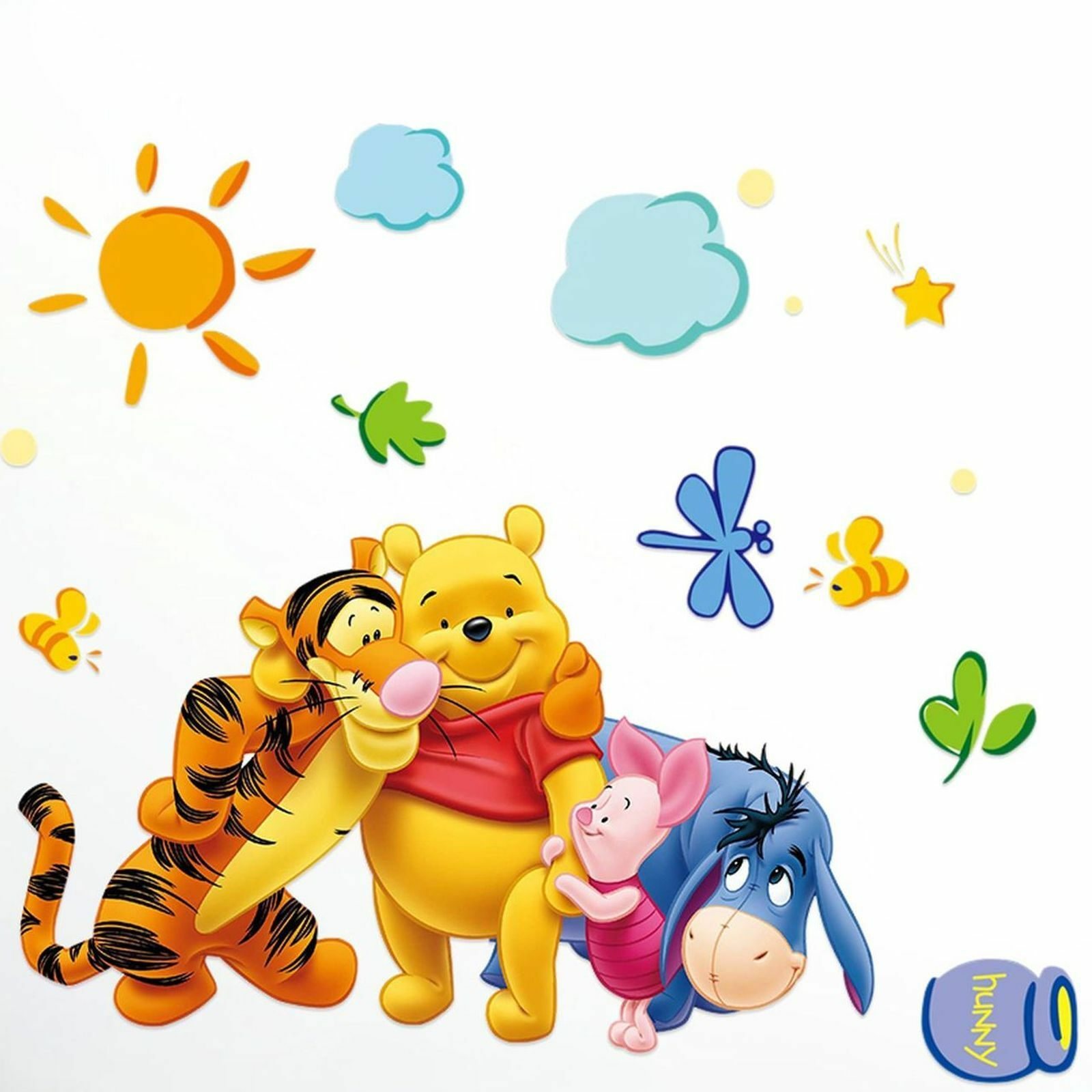 winnie puuh wandtattoo wandsticker winnie the pooh tigger wandaufkleber kinder eur 8 99. Black Bedroom Furniture Sets. Home Design Ideas