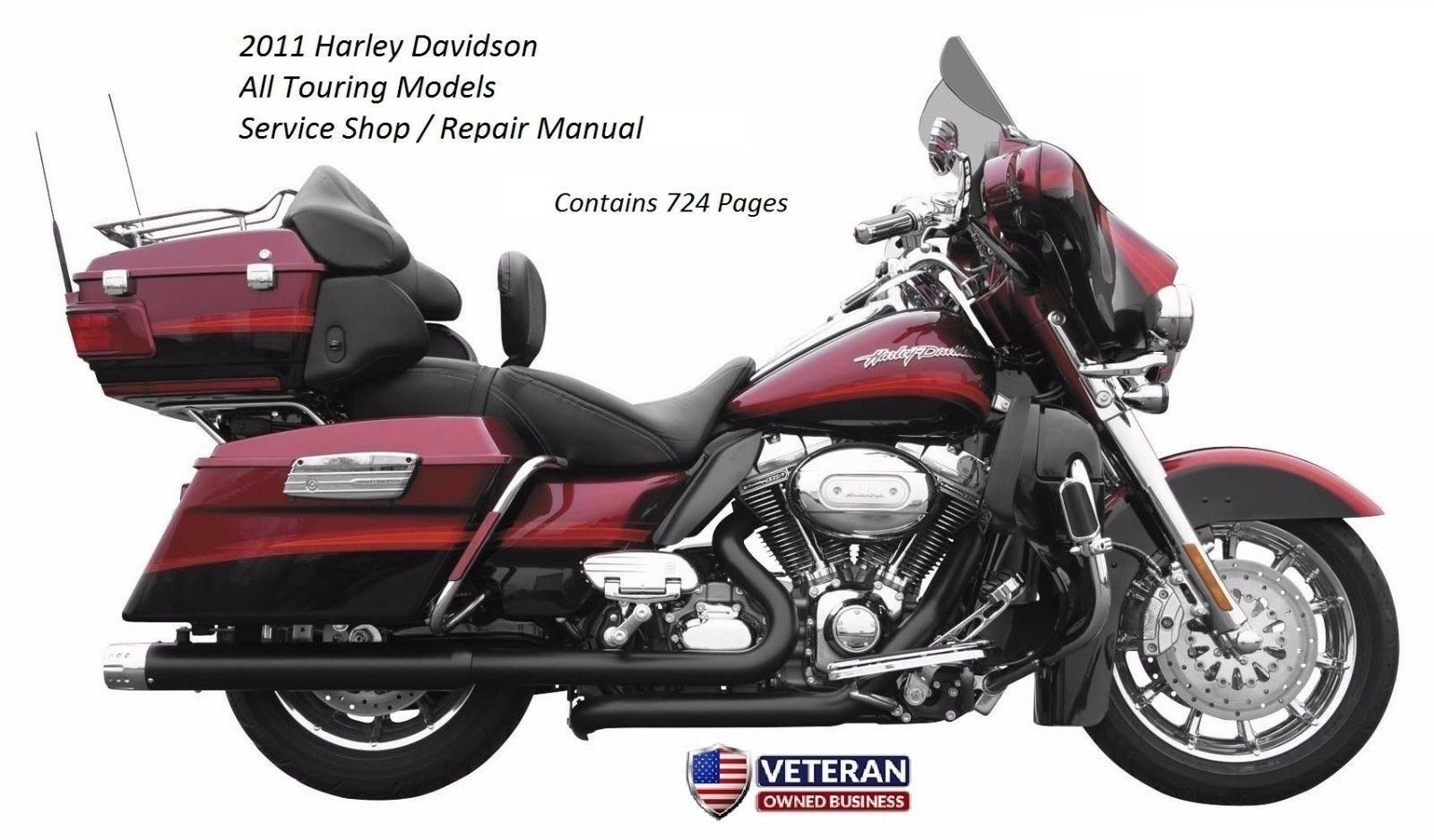 2011 Harley Davidson Touring Factory OEM Service Shop & Repair CD Manual 1  of 8Only 2 available ...