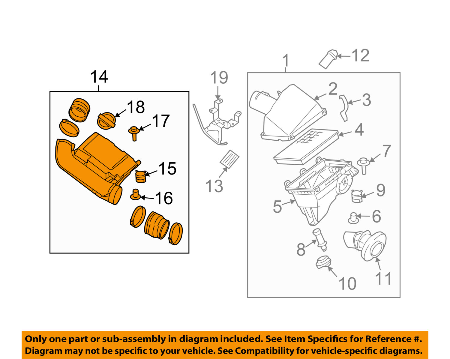 Nissan Oem 05 16 Frontier 40l Air Cleaner Intake Duct Tube Hose 2 4l Engine Diagram 1 Of 2only Available