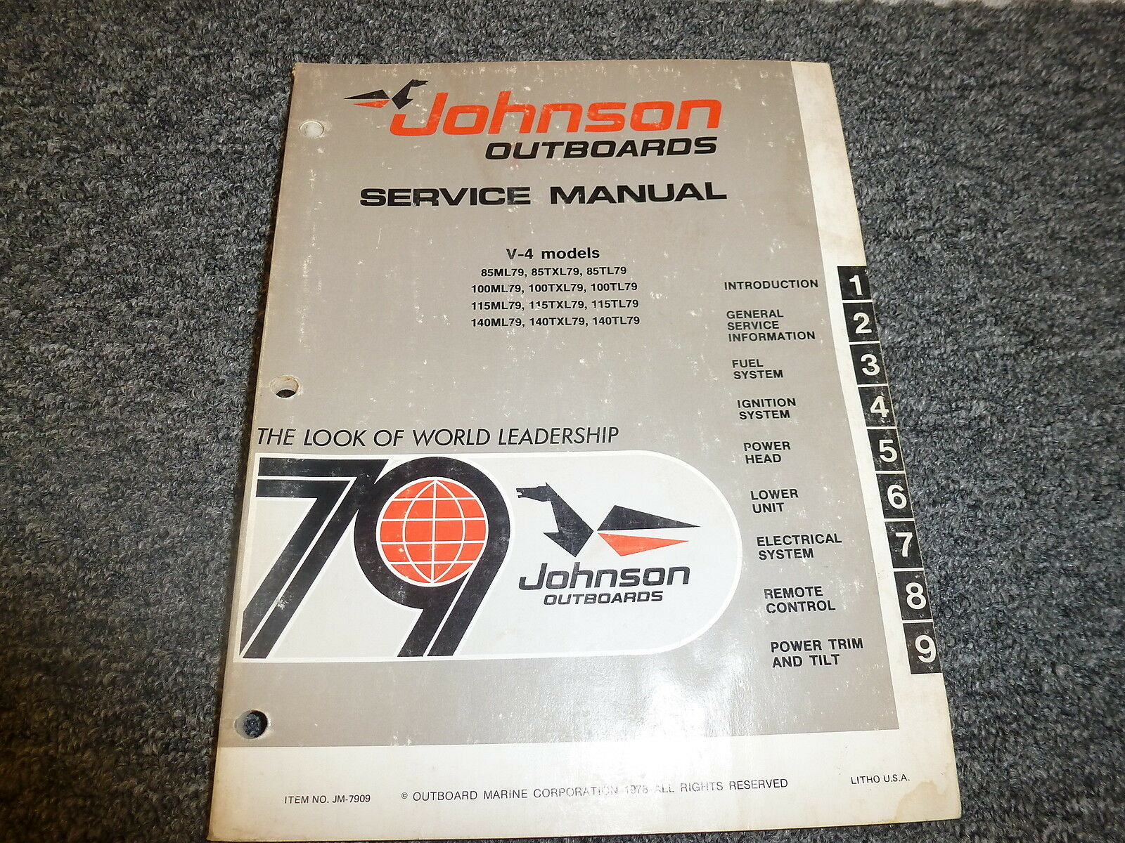 1979 Johnson 85 100 115 140 HP V4 Outboard Motor Shop Service Repair Manual  1 of 1Only 1 available ...