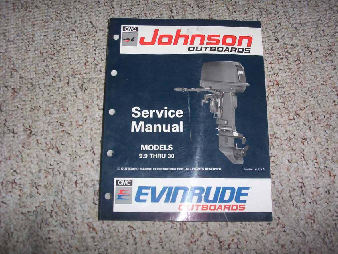 1992 Johnson Evinrude 20 25 28 30 35 HP Outboard Motor Service Repair Manual  1 of 1FREE Shipping ...