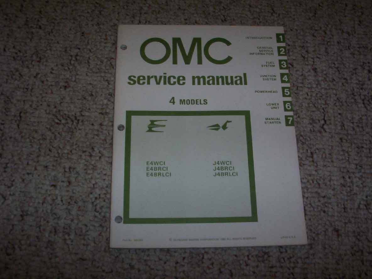 1981 OMC Johnson Evinrude 4 HP Outboard Motor Shop Service Repair Manual 1  of 1Only 1 available See More