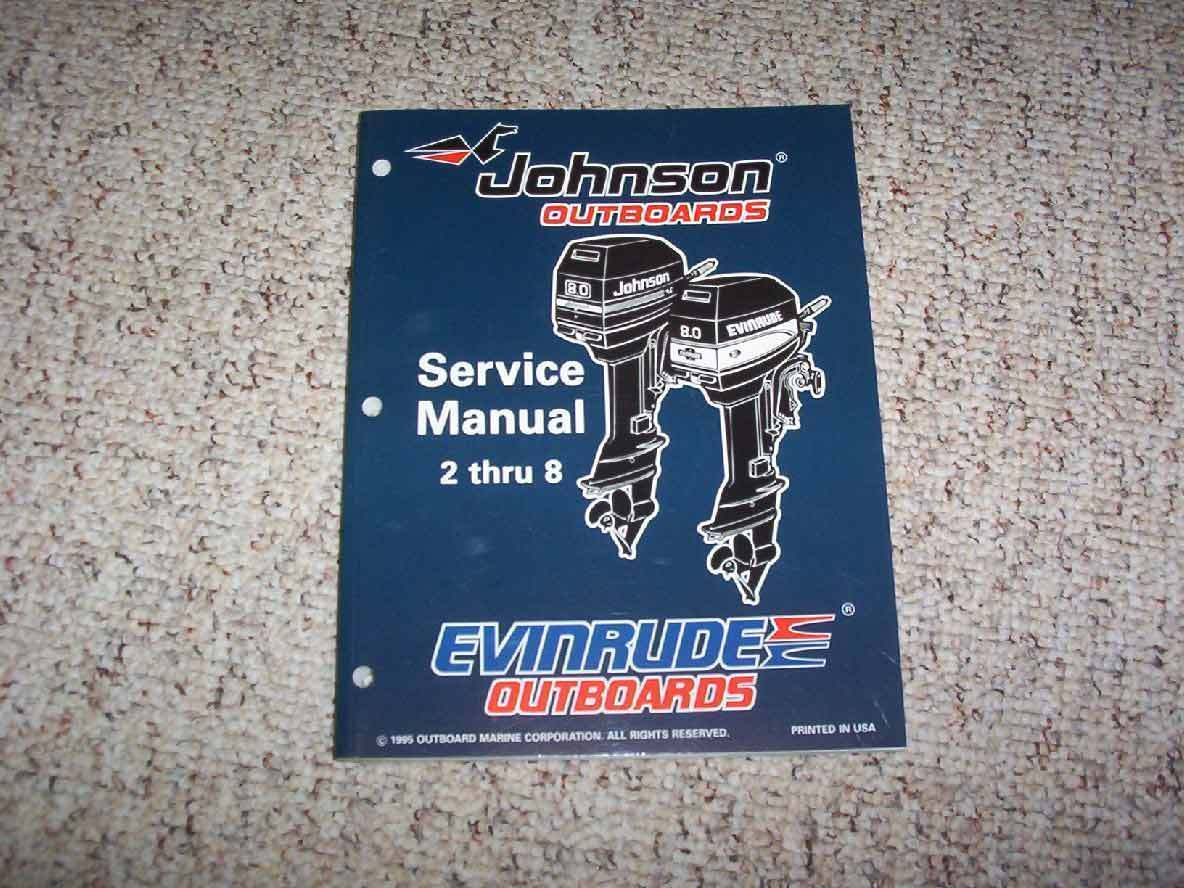 1996 Johnson Evinrude 2 2.3 3.3 3 4 5 6 8 HP Model Shop Service Repair 1 of  1FREE Shipping ...
