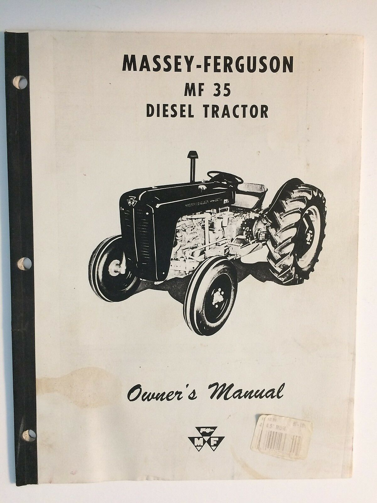 Massey-Ferguson MF 35 Diesel Tractor Operator's Owner's Instruction Manual  Book 1 of 1Only 1 available See More