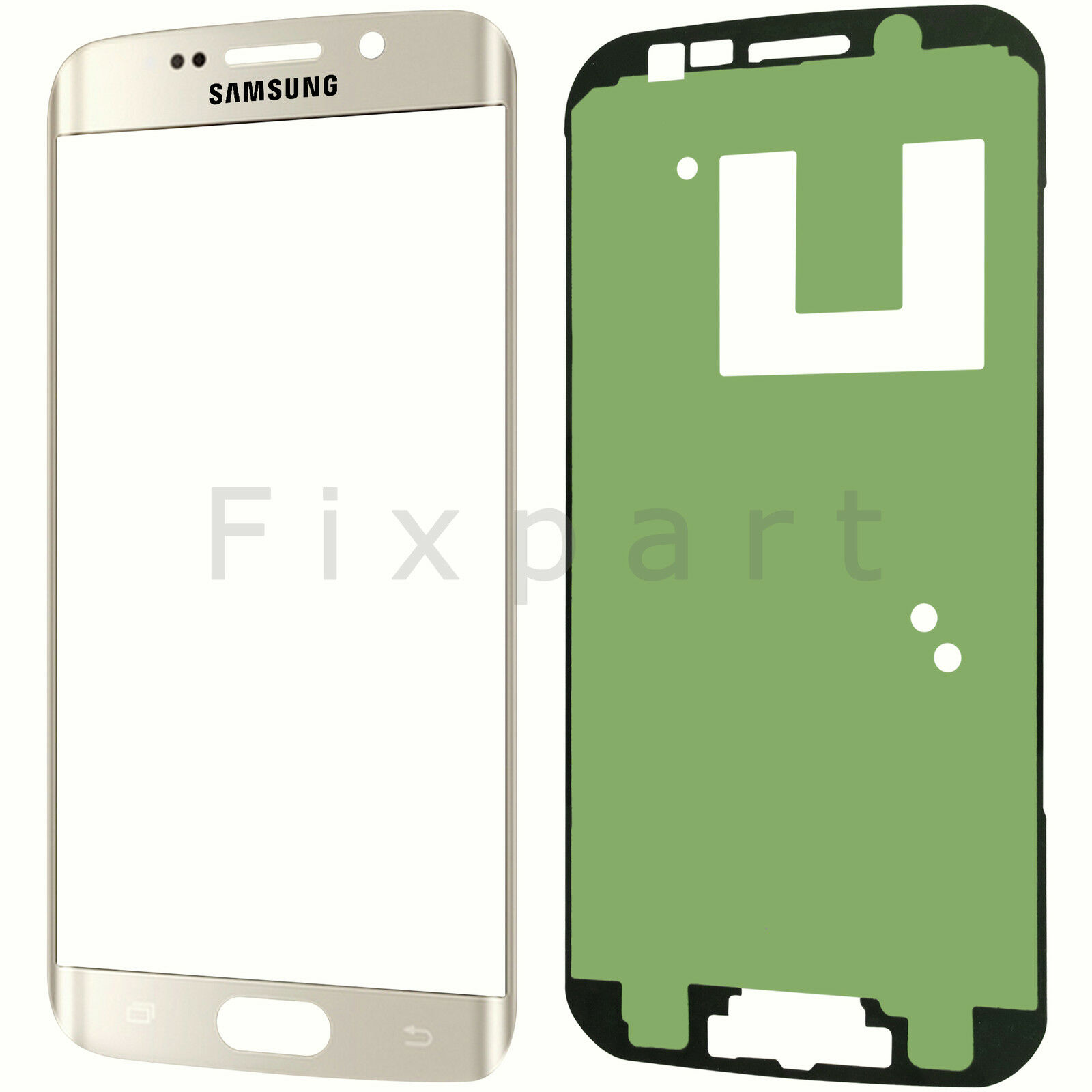 Samsung galaxy s6 edge plus front display glas scheibe for Glas klebefolie