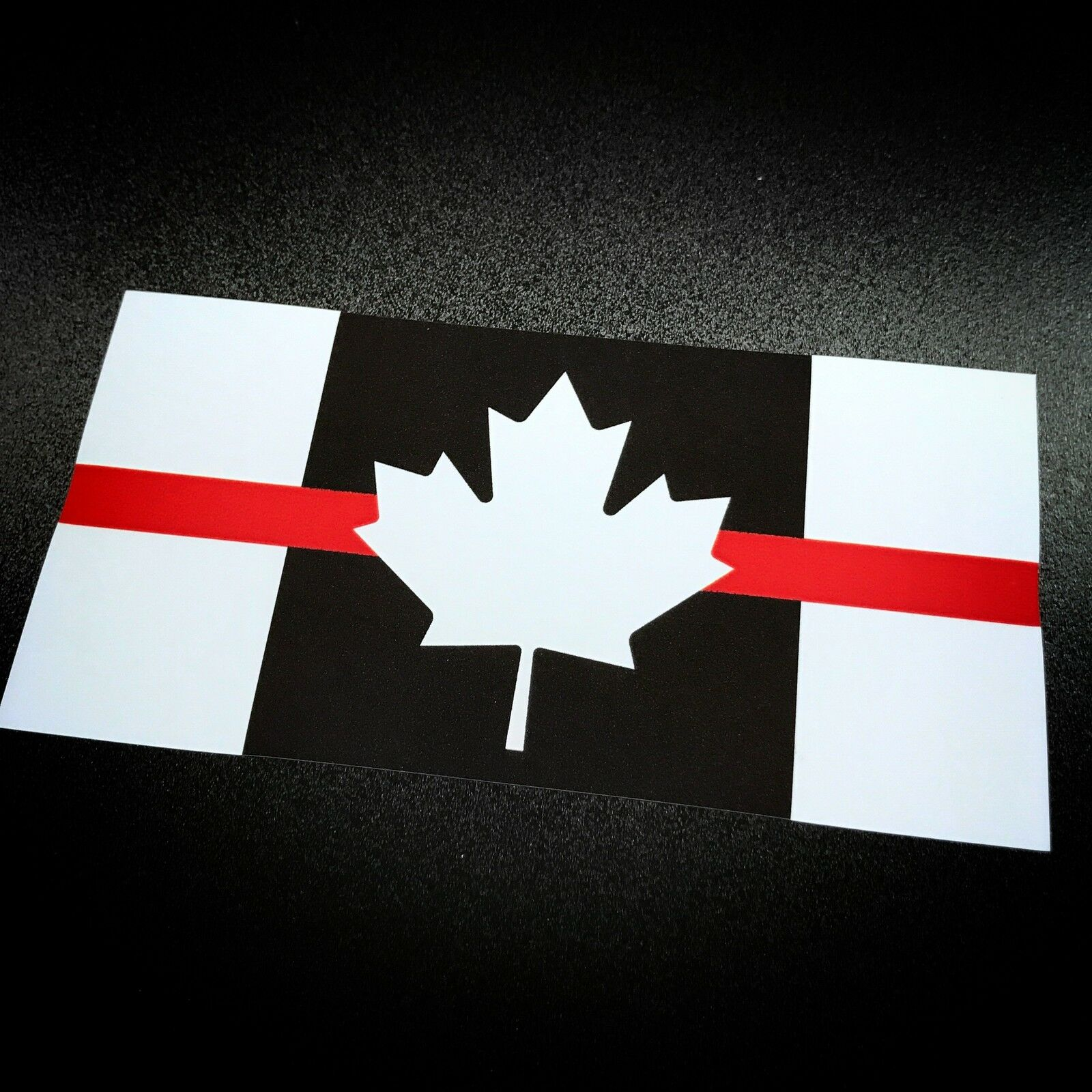 Canada flag red stripe sticker 1 of 3free shipping