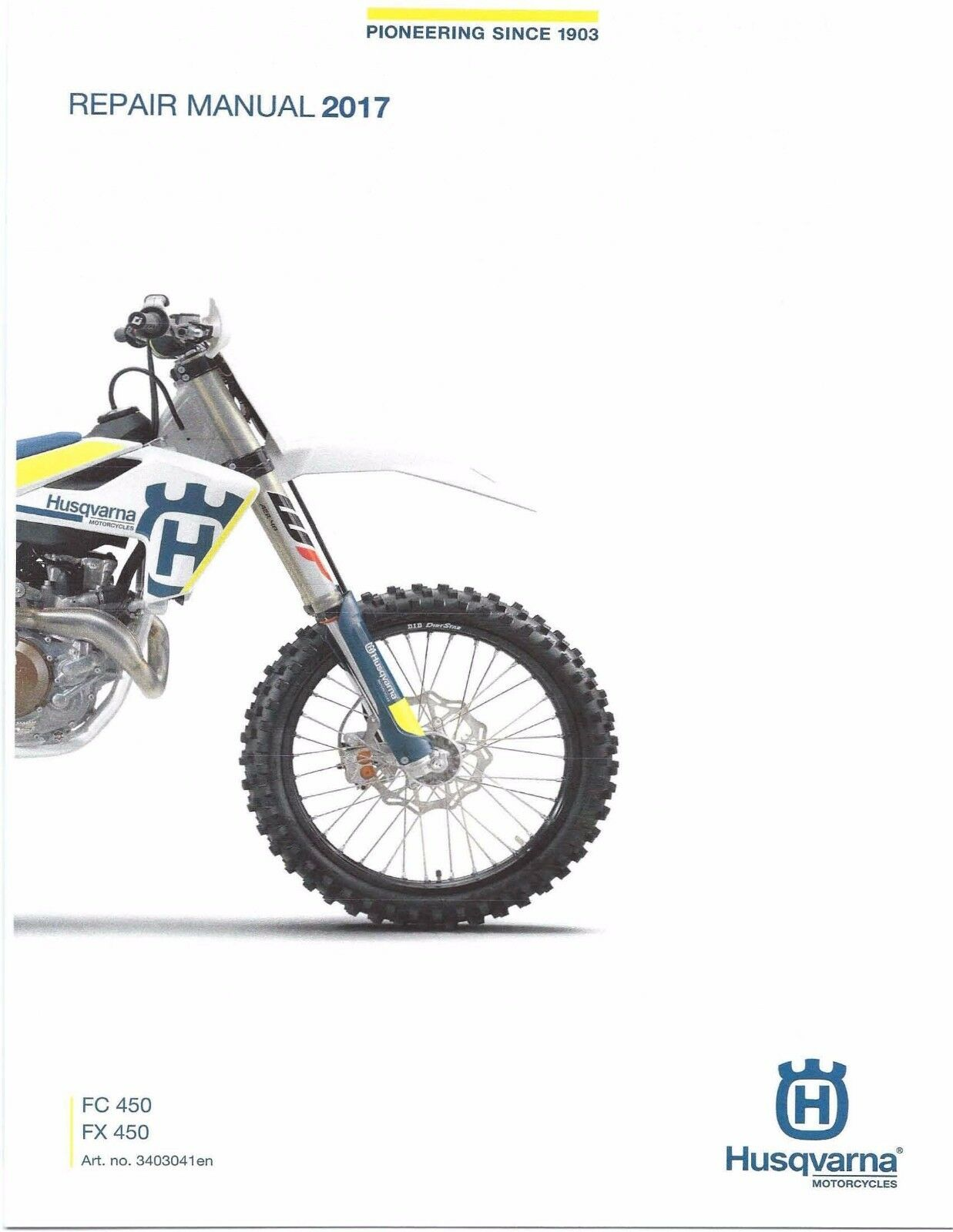 Husqvarna workshop service manual 2017 FC 450 & FX 450 1 of 12 ...
