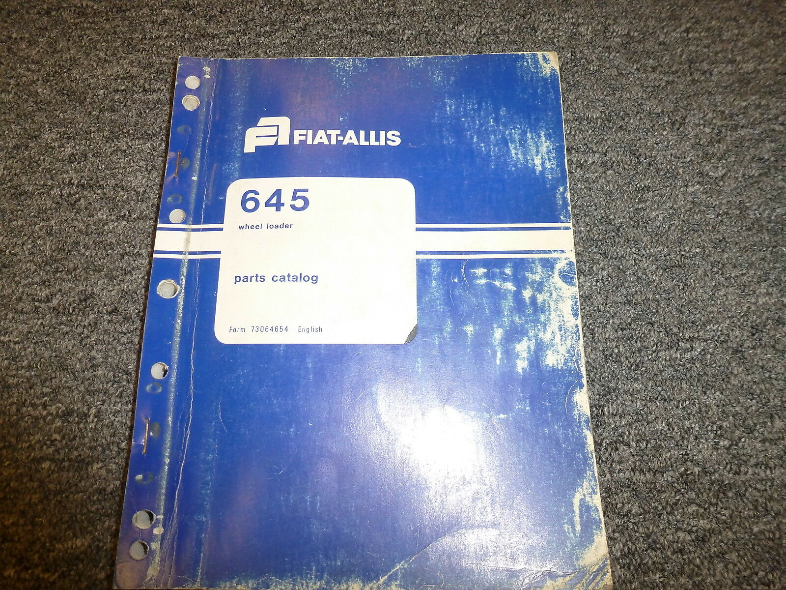 Fiat Allis 645 Articulated Wheel Loader Parts Catalog Manual 73064654 1 of  1Only 1 available ...