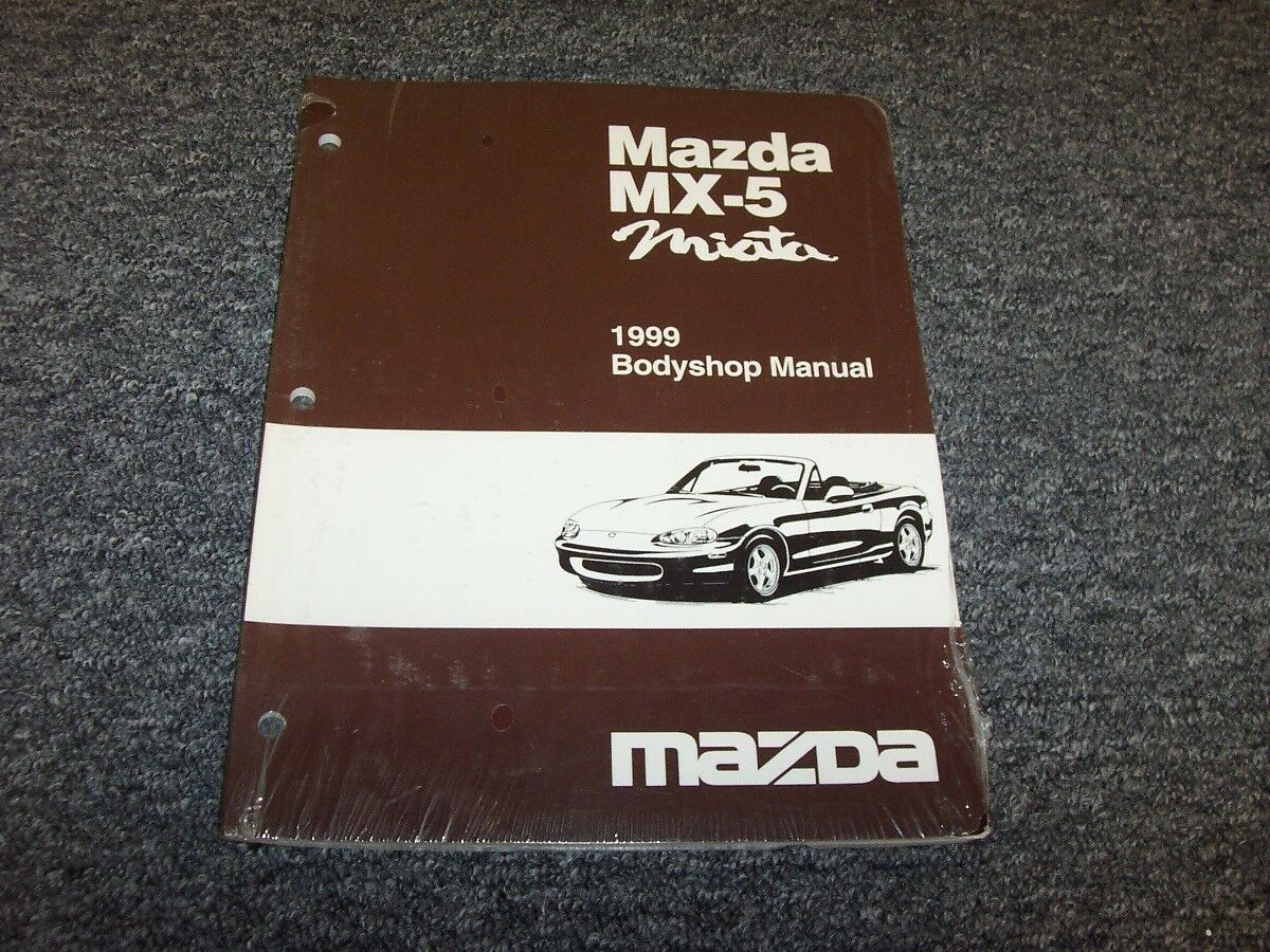 1999 Mazda MX5 Miata Convertible Bodyshop Shop Service Repair Manual 1.8L 1  of 1Only 1 available ...