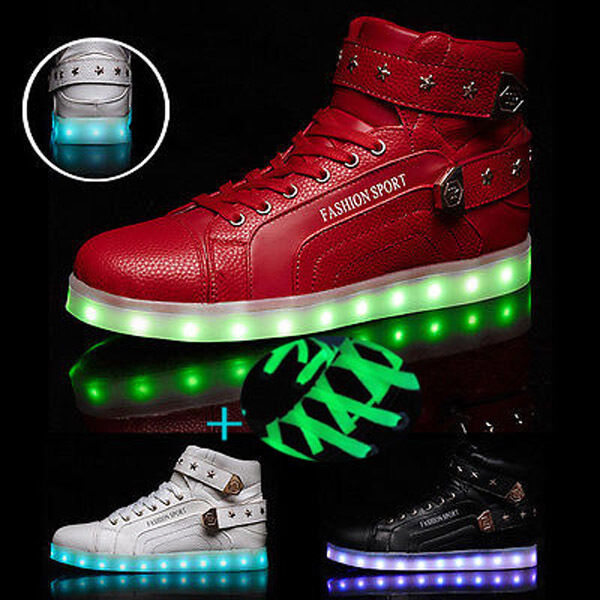 unisex led licht schuhe herren damen leuchtend sneaker blinkschuhe farbwechse rf eur 20 88. Black Bedroom Furniture Sets. Home Design Ideas