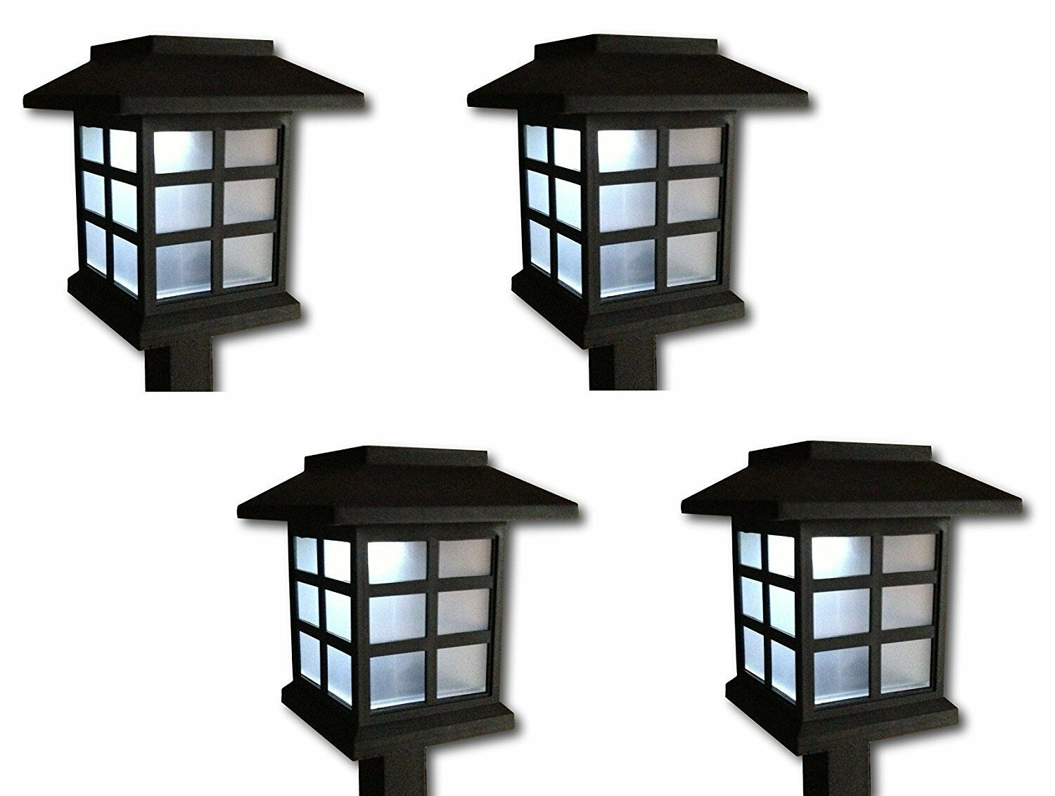 4 x led solarleuchte solarlampe solar laterne. Black Bedroom Furniture Sets. Home Design Ideas