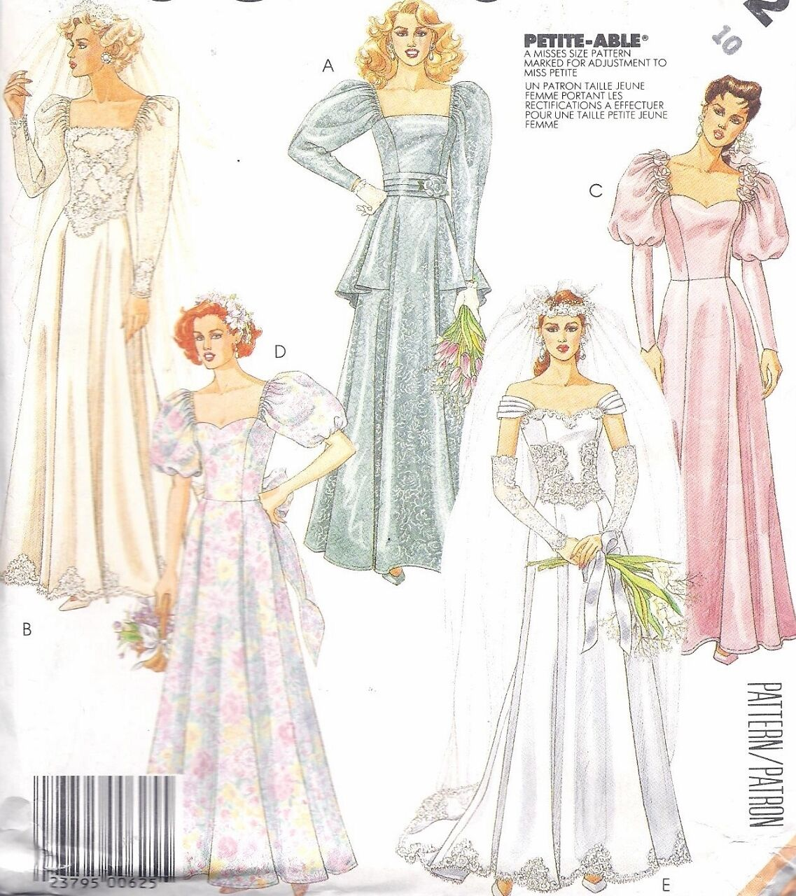 Vintage 1930s style wedding gown sewing pattern uncut puff sleeve vintage 1930s style wedding gown sewing pattern uncut puff sleeve square neck jeuxipadfo Gallery