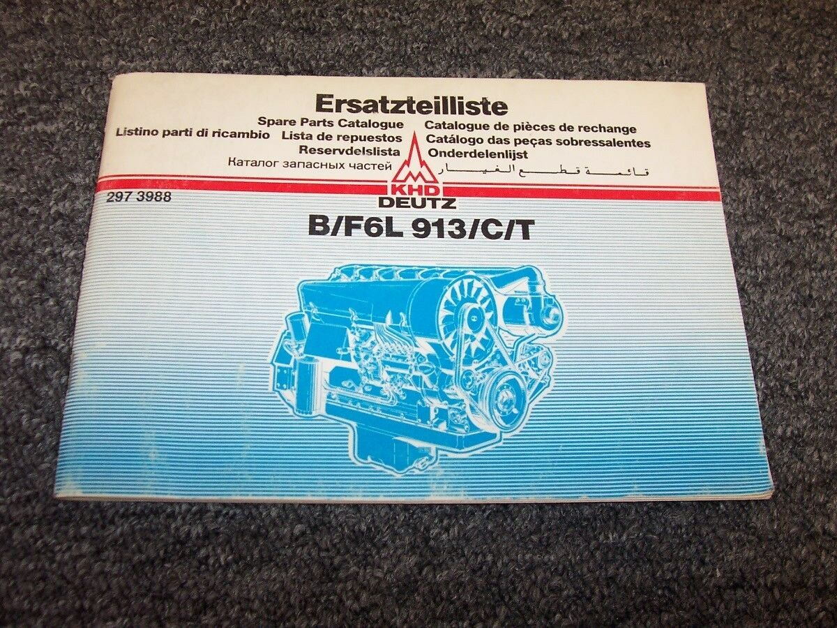 Deutz B6L913 B6L913C B6L913T F6L913 F6L913C F6L913T Engine Parts Catalog  Manual 1 of 1Only 1 available ...