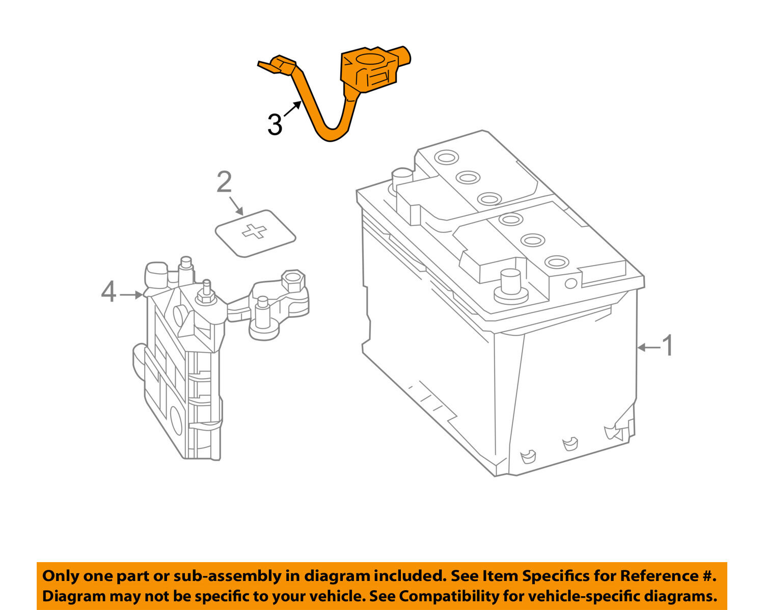 Mercedes Oem 15 17 C300 Battery Negative Cable 0009050454 12868 Fuse Diagram 1 Of 2only 2 Available