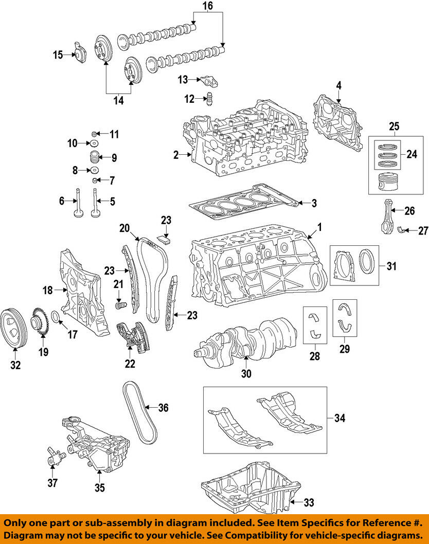 Mercedes Oem 15 17 C300 Engine Piston 2740300900 29377 Picclick Ca Vw Diagram 1 Of 1only 2 Available