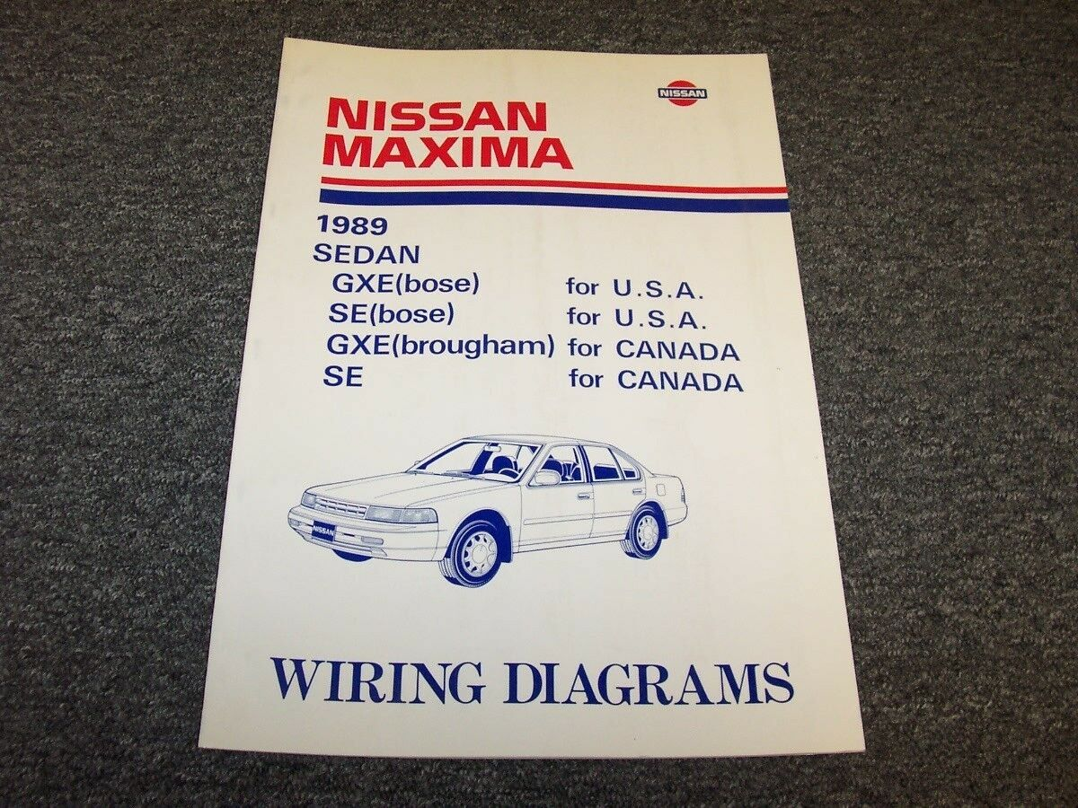 1989 Nissan Maxima Sedan Electrical Wiring Diagram Guide Manual Gxe Se 30l V6 1 Of 1only Available