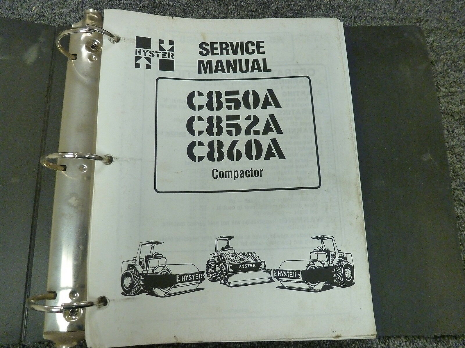 Hyster C850A C852A C860A Roller Compactor Shop Service Repair Manual Book 1  of 1Only 1 available See More