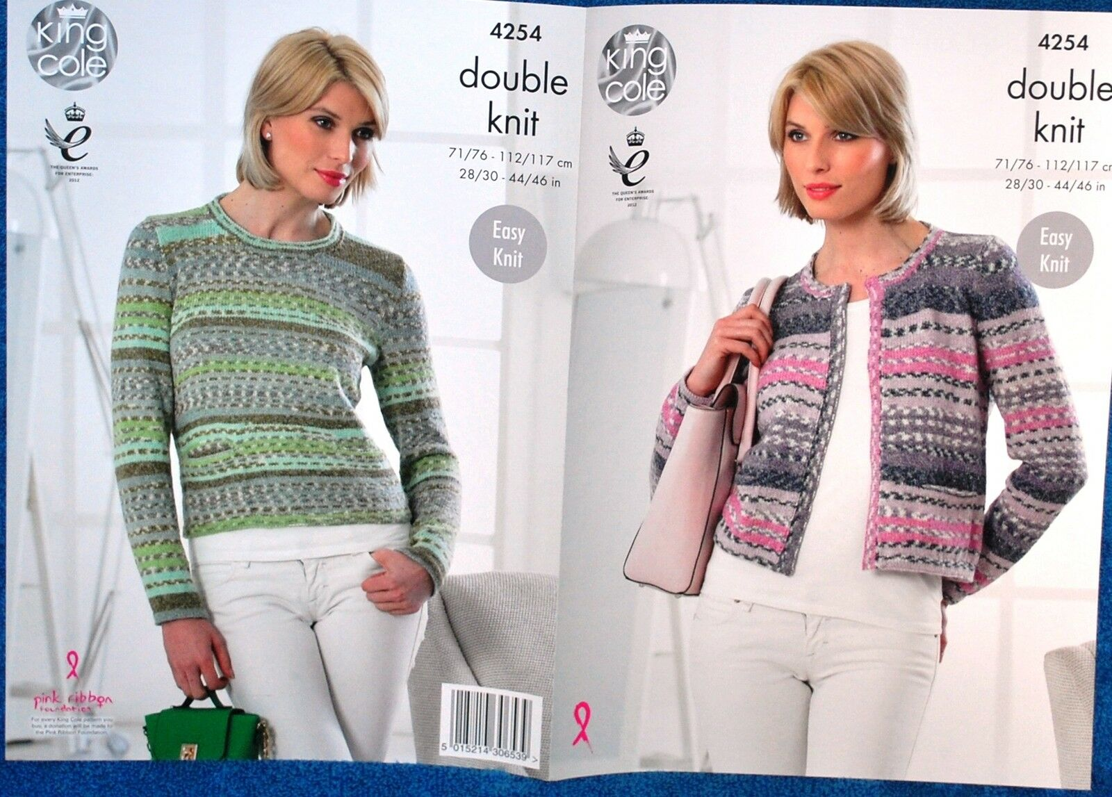 Ladies Double Knit Easy Knit Cardigan & Sweater Knitting Pattern 28 - 46 ...