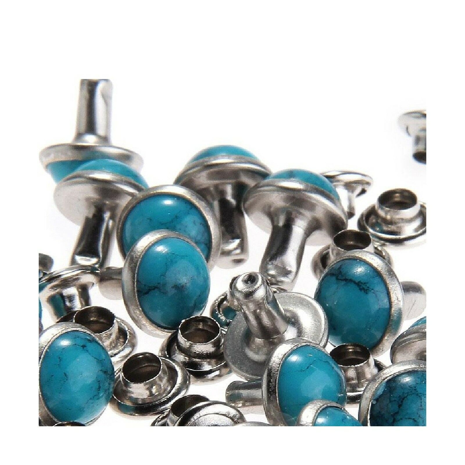 RUBYCA Blue Turquoise Rapid Rivets Studs DIY Leather-Craft for ... Free Shipping 1 of 4Only 3 available ...