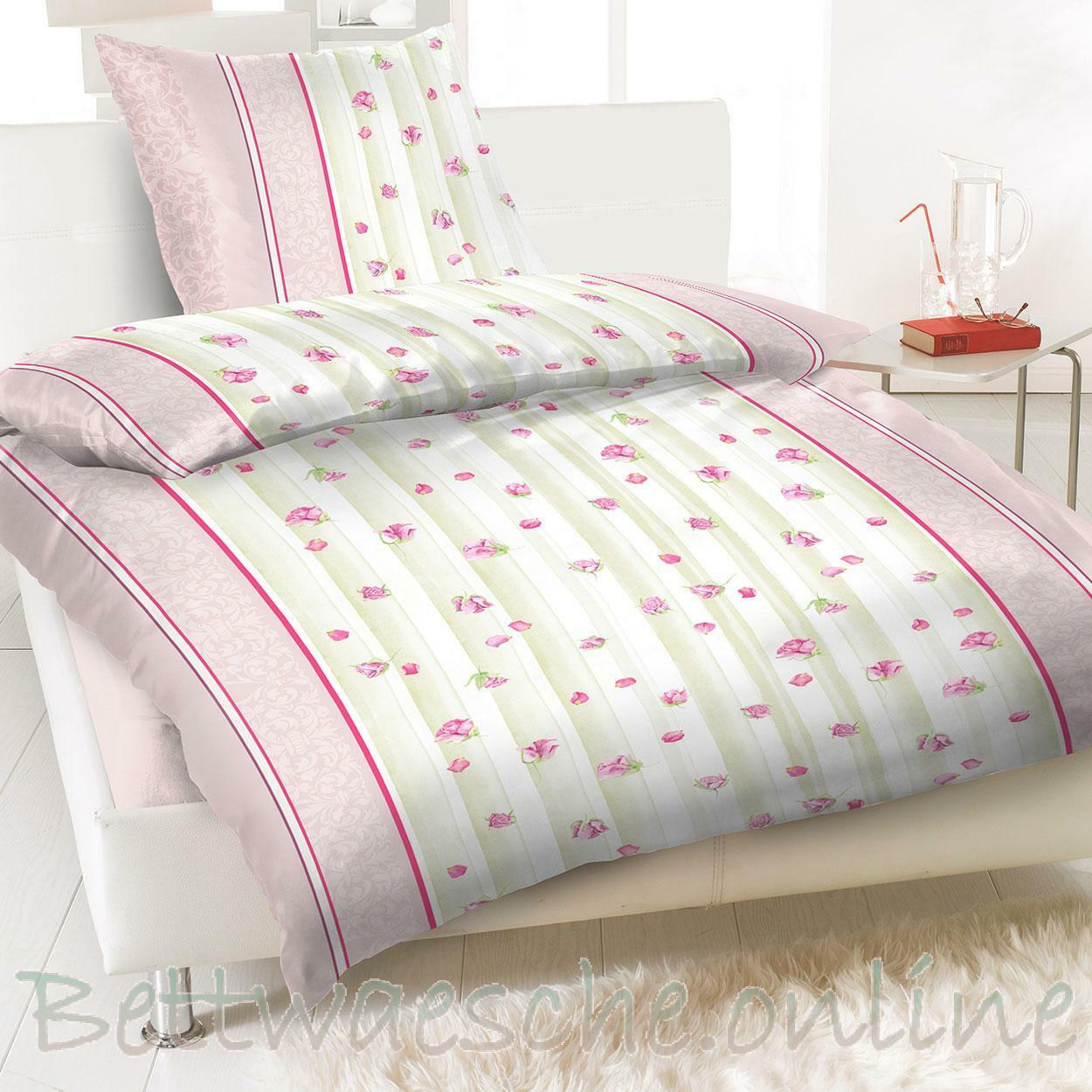 baumwolle renforce bettw sche 4 teilig 135x200 cm floral rosa eur 14 95 picclick de. Black Bedroom Furniture Sets. Home Design Ideas