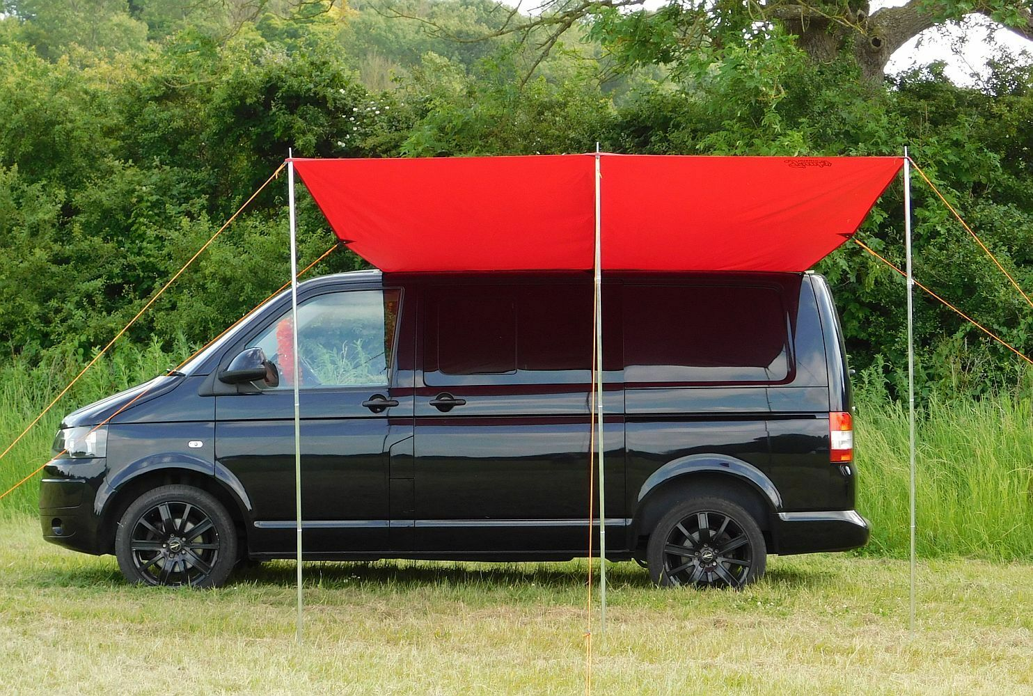 Vw Campervan Sun Canopy Awning For T4 T5 T6 Chianti Red