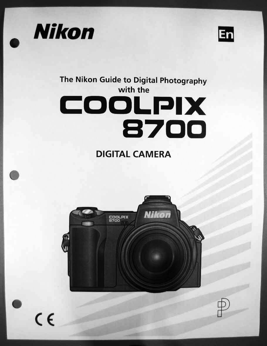 nikon coolpix 8700 digital camera user guide instruction manual rh picclick  com Nikon Coolpix L110 Manual Printable Nikon Coolpix A10 ...