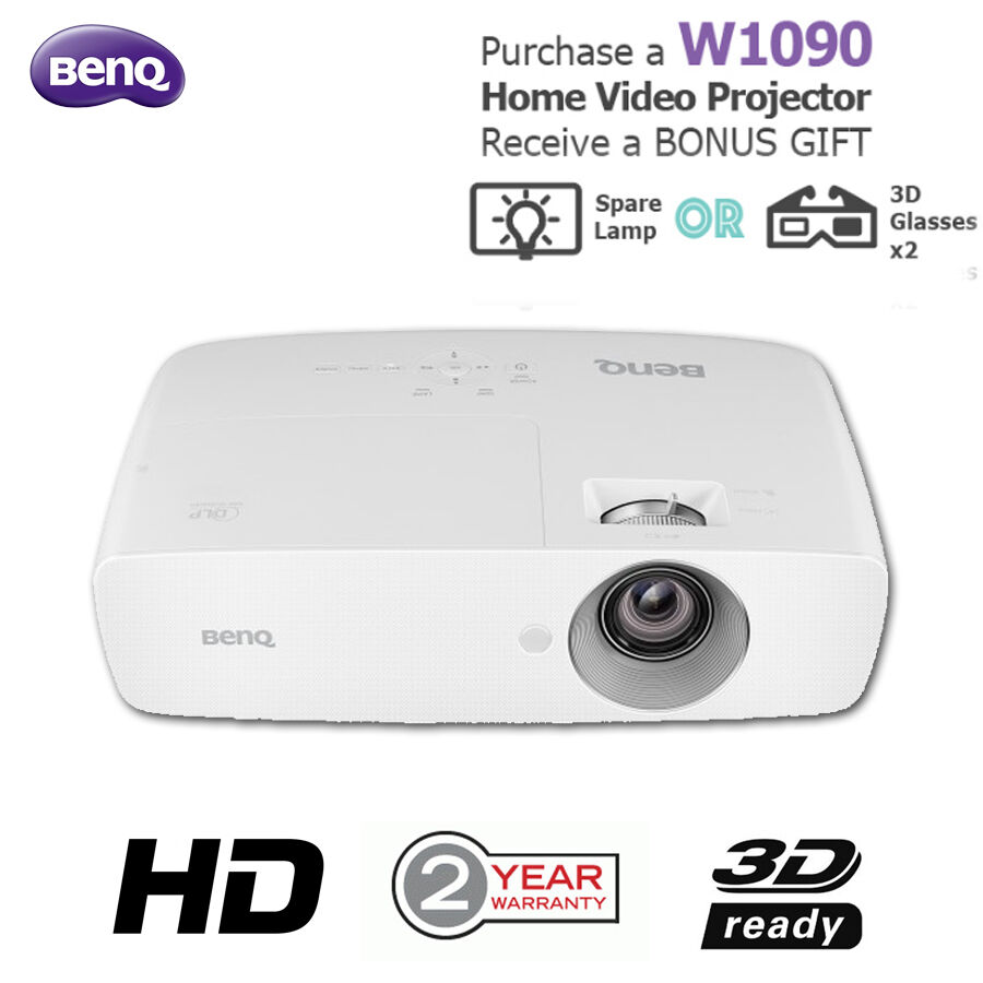 new benq w1090 1080p gaming home cinema projector with bonus offer aud picclick au. Black Bedroom Furniture Sets. Home Design Ideas
