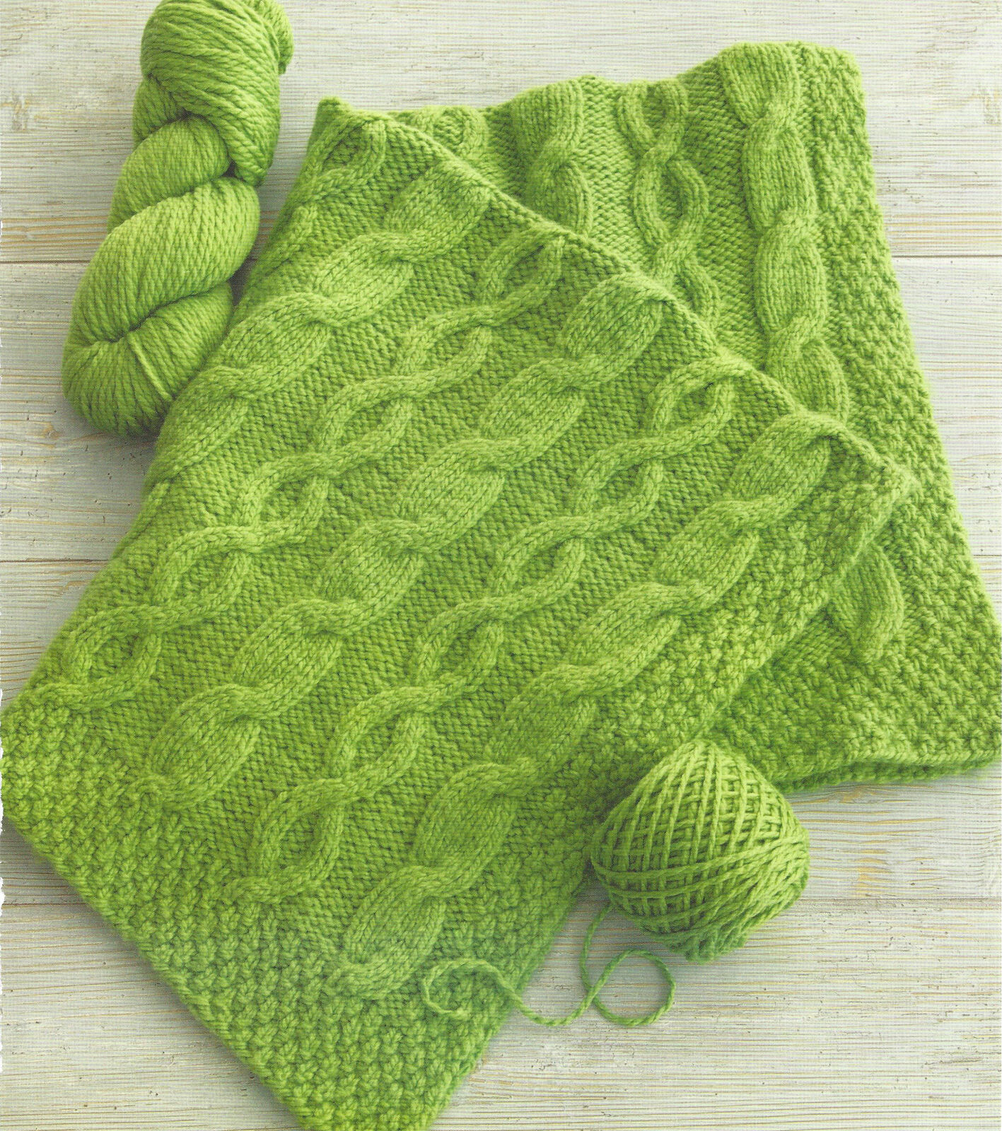 Knitting Pattern Chunky Wool Blanket : Aran Baby Blanket In Chunky Yarn Knitting Pattern (1040)   ?0.99 - PicClick UK