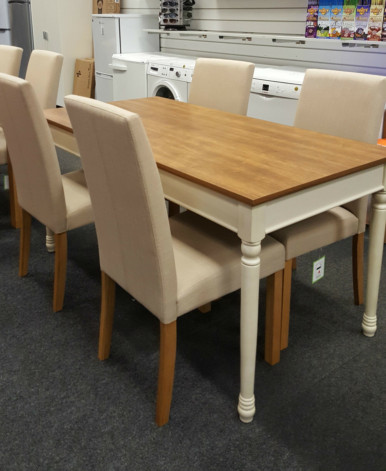 Heart of house ellingham dining table and 4 schneider for 99 dining table