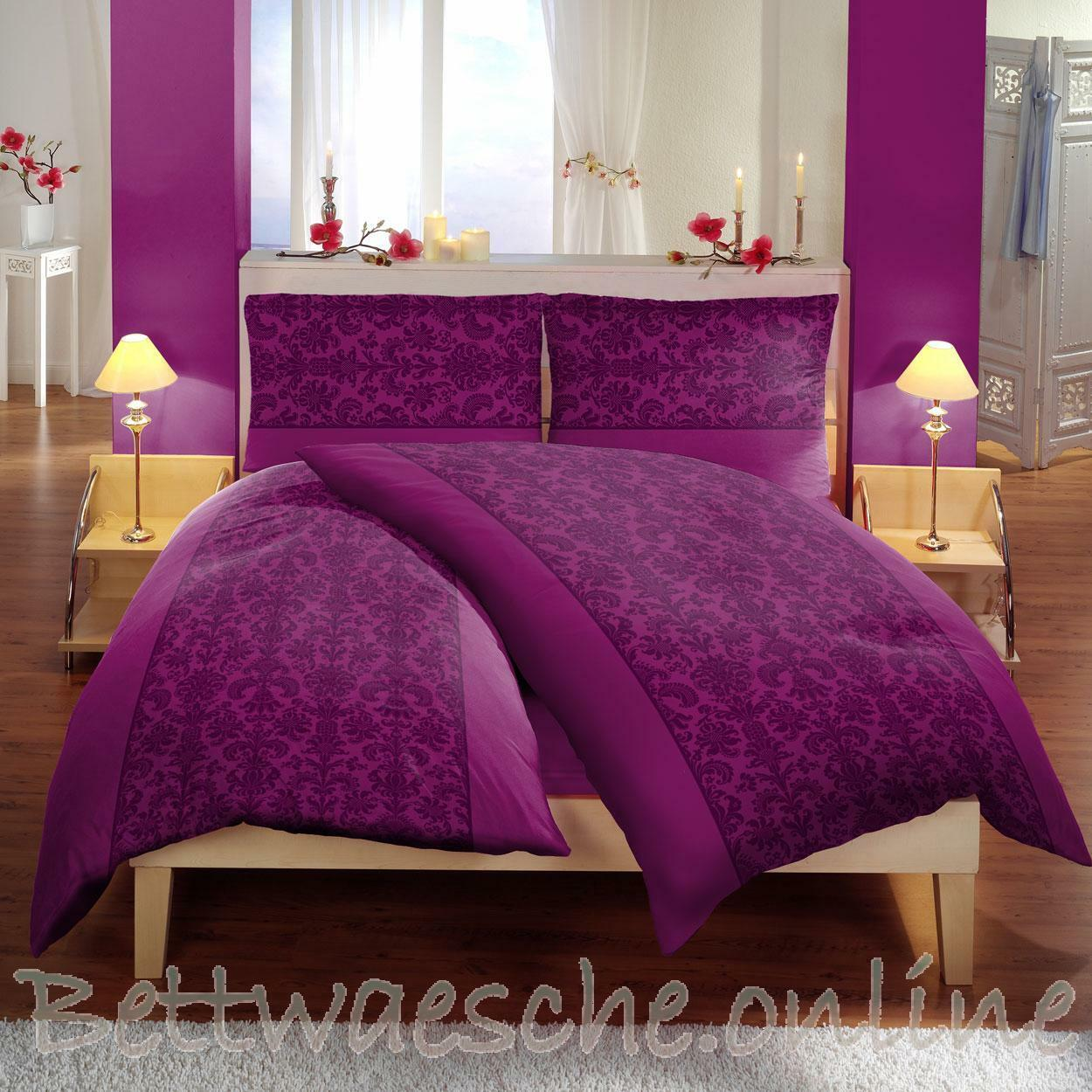 mikrofaser bettw sche 140x200cm 6 teilig ornamente rot 1b ware eur 9 95 picclick de. Black Bedroom Furniture Sets. Home Design Ideas