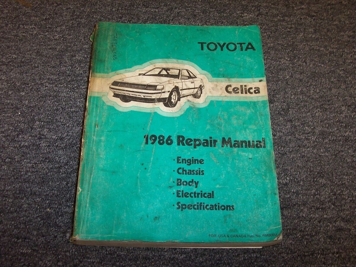 1986 Toyota Celica Coupe Workshop Shop Service Repair Manual Book St Wiring Diagram 1 Of 1free Shipping