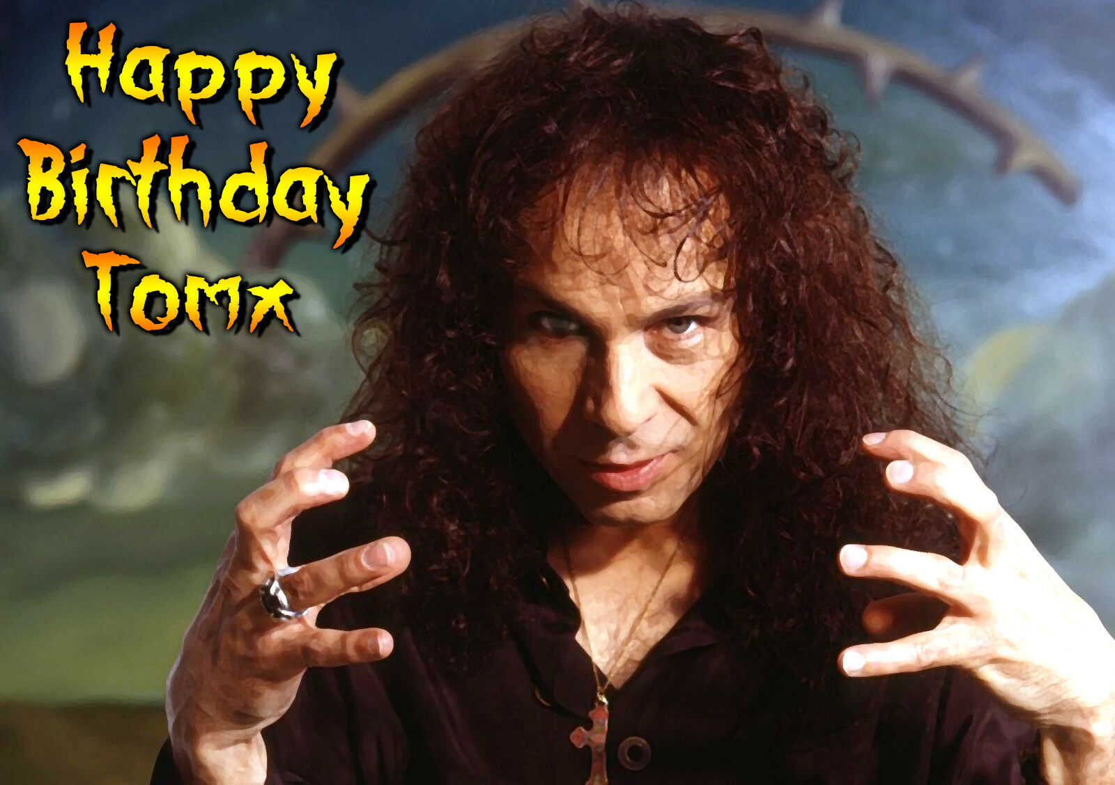 Ronnie James Dio Band Rock Heavy Metal Personalised Birthday