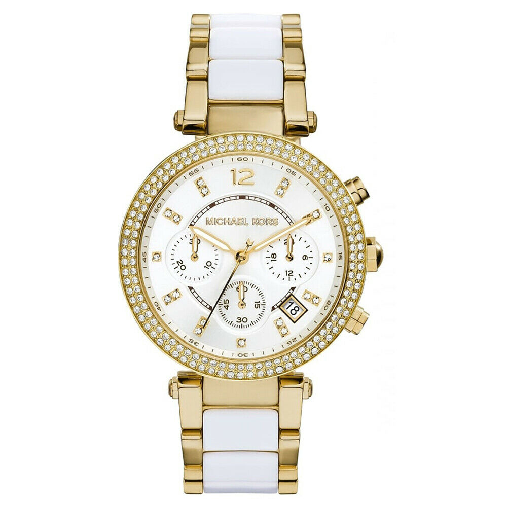 4d68de54be5b New In Box Michael Kors MK6119 Parker Women s Silver Gold Two Tone Ladies  Watch 1 of 6Only 2 available ...