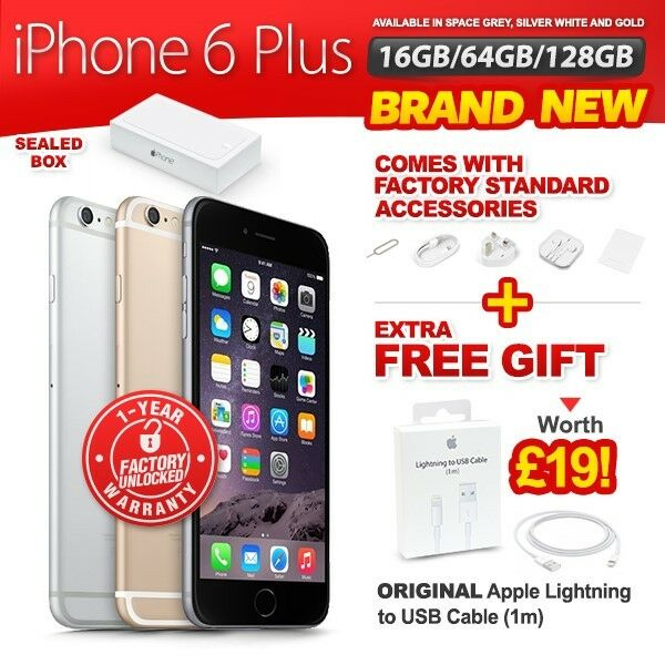factory unlock iphone 6 new amp sealed factory unlocked apple iphone 6 plus 16 64 3516
