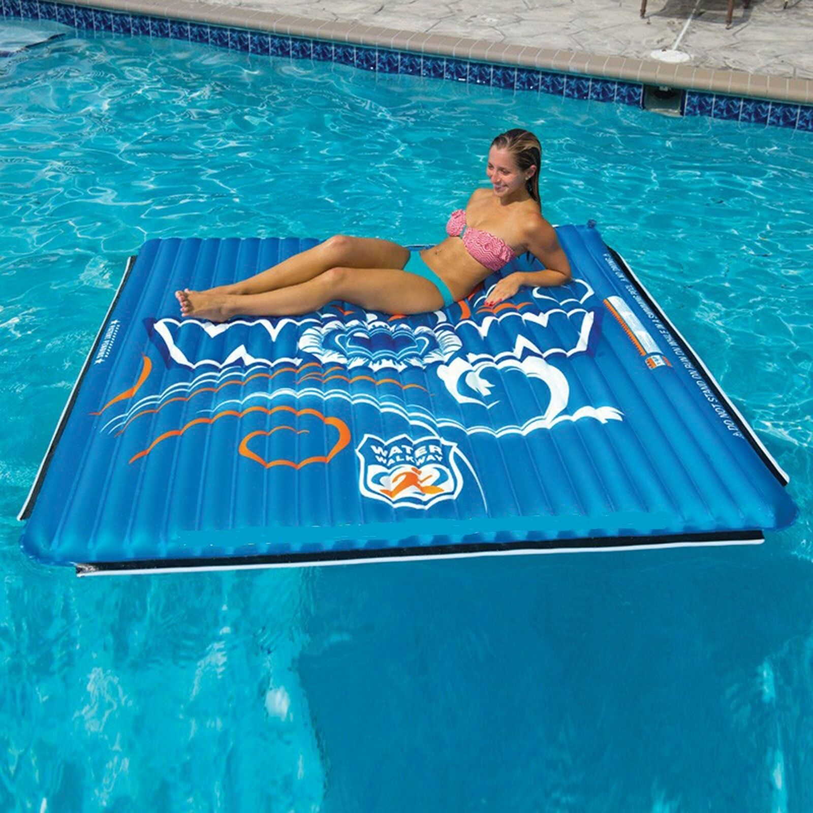 Water Mat Large 6 X 6 Inflatable Pool Float Raft Island