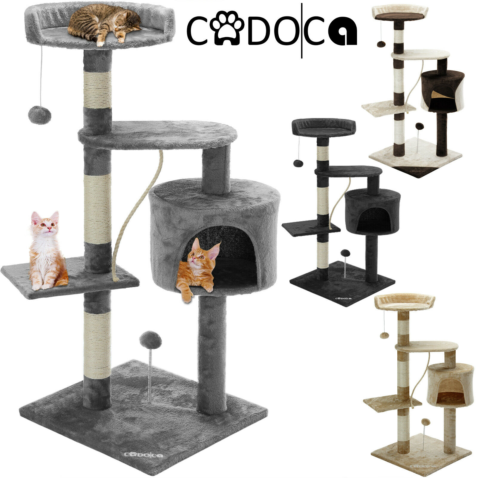 cadoca kratzbaum katzenkratzbaum katzenbaum kletterbaum f r katzen sisal eur 23 49 picclick at. Black Bedroom Furniture Sets. Home Design Ideas