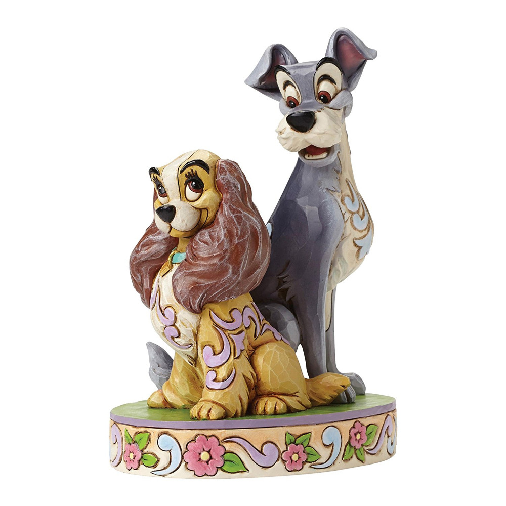 jim shore disney traditions lady and the tramp figurine picclick uk. Black Bedroom Furniture Sets. Home Design Ideas