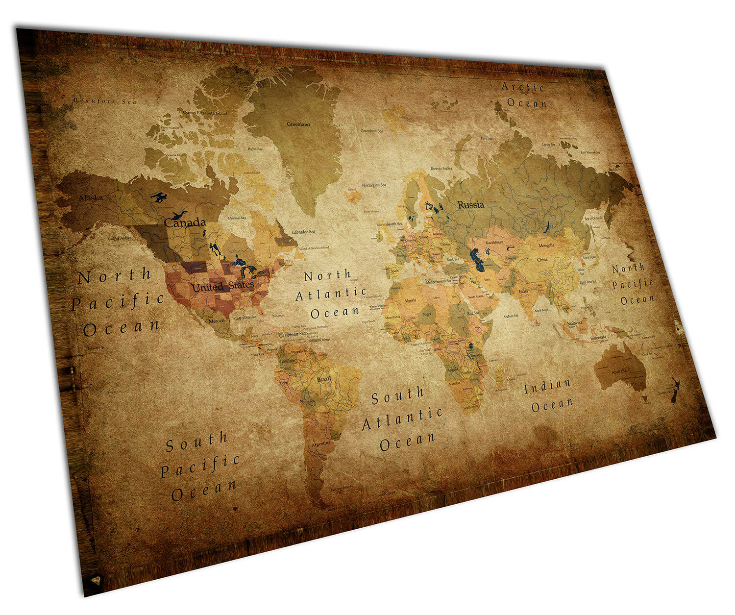 RETRO VINTAGE WORLD Map Wall Art Large A1 Poster 33 X 23 Inch ...