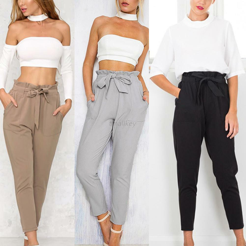Get a leg up in the style stakes this season with our new collection of ladies' trousers. We've got smart tailored options, including slim-leg pairs, perfect for the working week as well as weekend-ready styles, such as comfy joggers and fitted leggings.