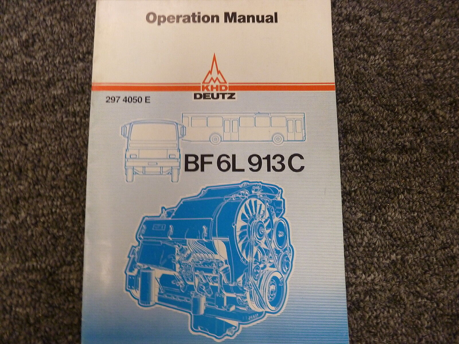 KHD Deutz Model BF6L913C Diesel Engine Owner Operator Maintenance Manual  Book 1 of 1Only 1 available ...