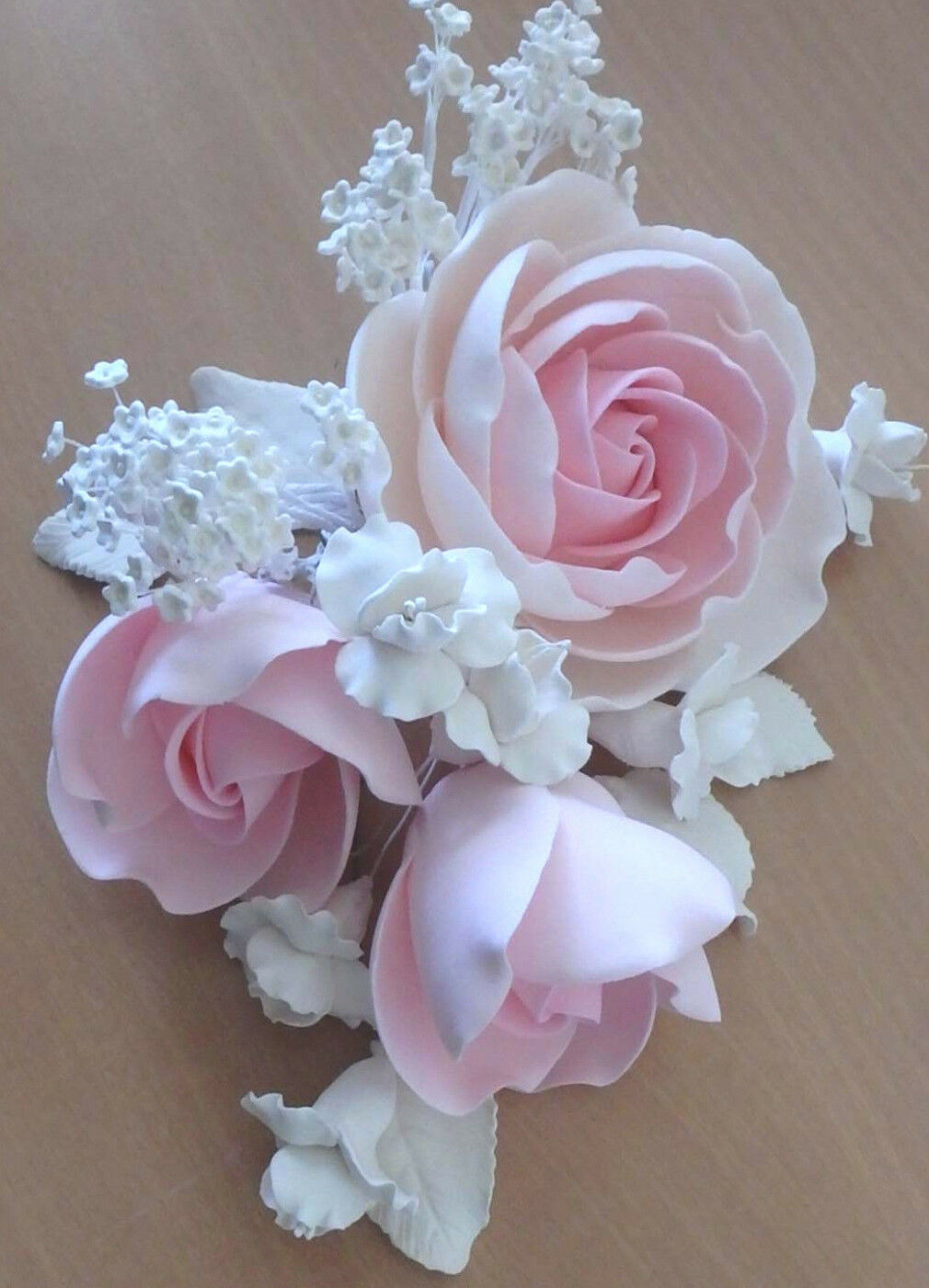 sugar flower decorations for wedding cakes pink roses sweet peas baby breath sugar flower wedding 20570