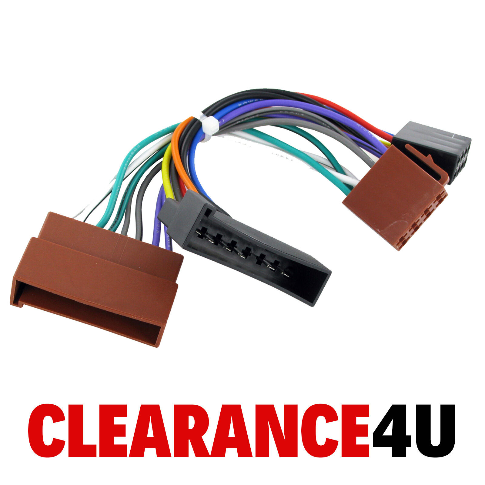 Ford Transit 96> Car Stereo Radio ISO Harness Adaptor Wiring Loom Lead 1 of  1FREE Shipping ...