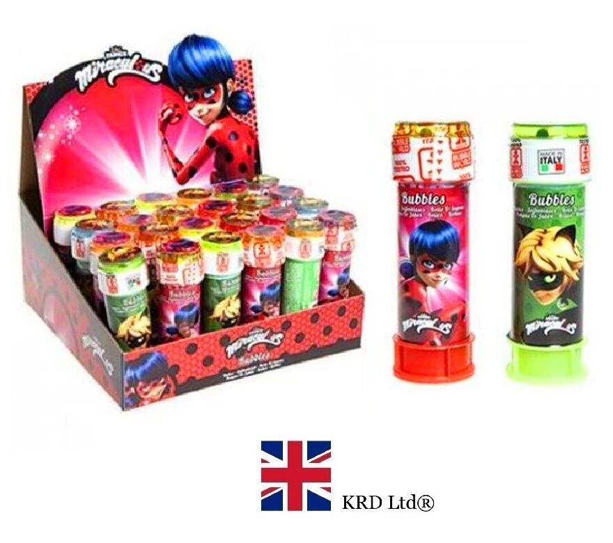 MIRACULOUS LADYBUG KIDS BUBBLE TUBS Party Favors Bag Fillers Toy ...