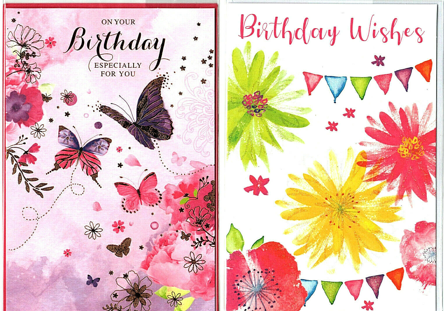 Various Female Birthday Cards Traditional Flowers New 135