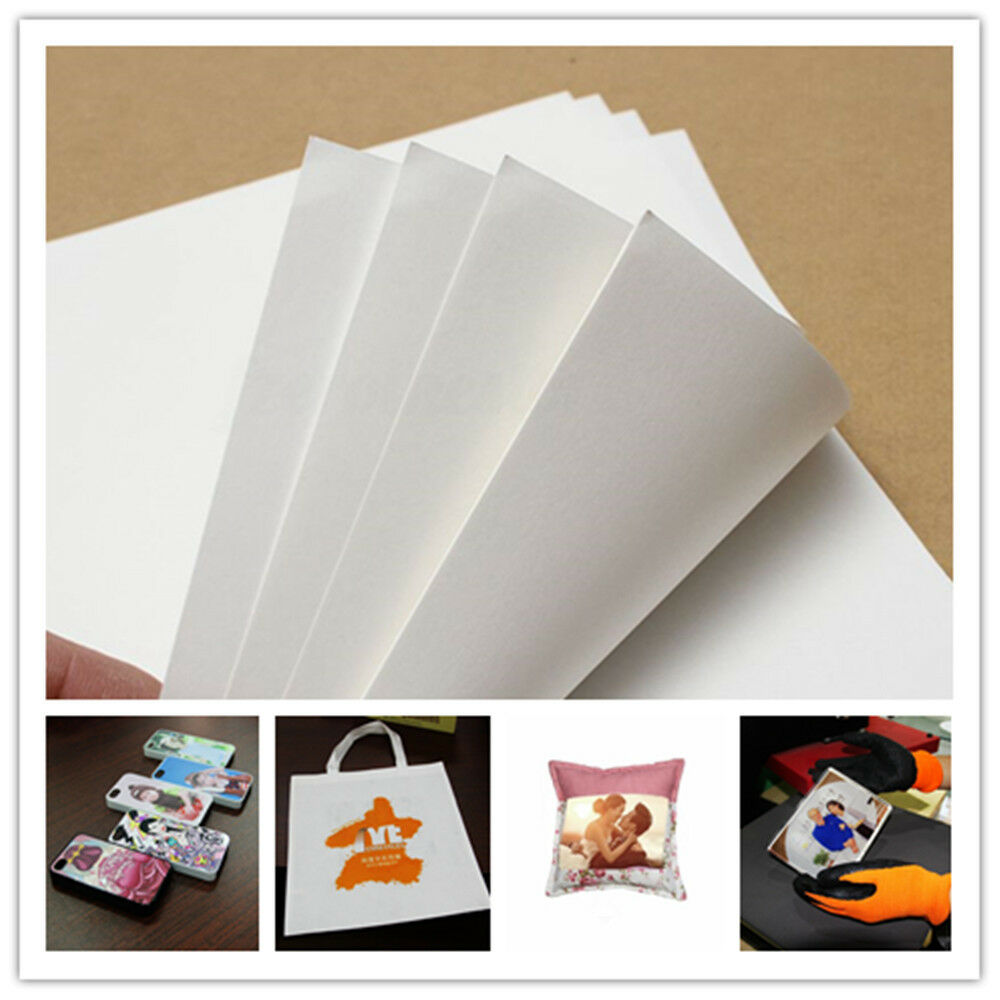 A4 iron on inkjet print heat sublimation paper for t shirt for Iron on shirt paper