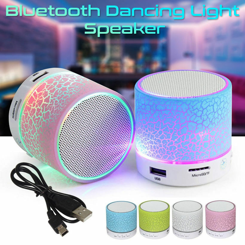 mini bluetooth lautsprecher led mp3 fm radio musik box speaker handy tablet tf eur 5 99. Black Bedroom Furniture Sets. Home Design Ideas
