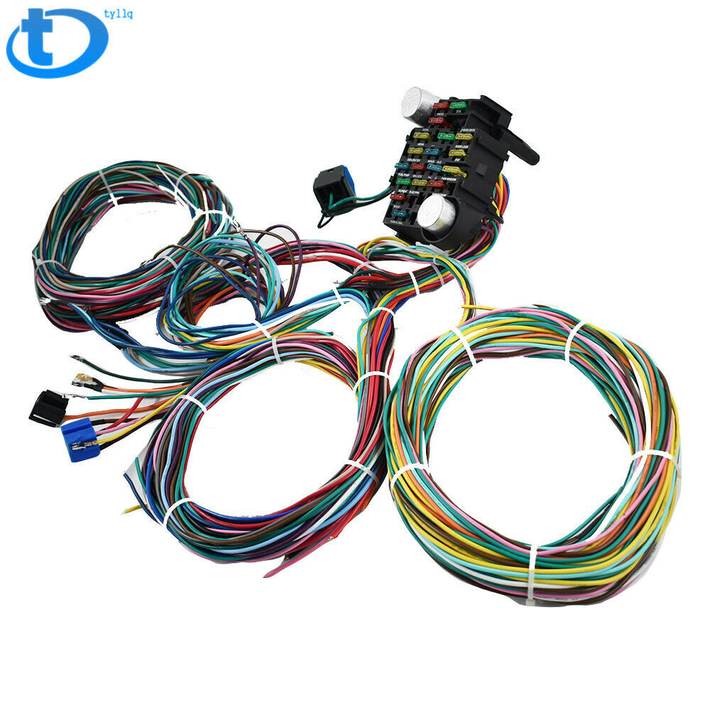 21 Circuit Wiring Harness For Chevy Mopar Ford hotrods Universal X-long  wires 1 of 5FREE Shipping See More