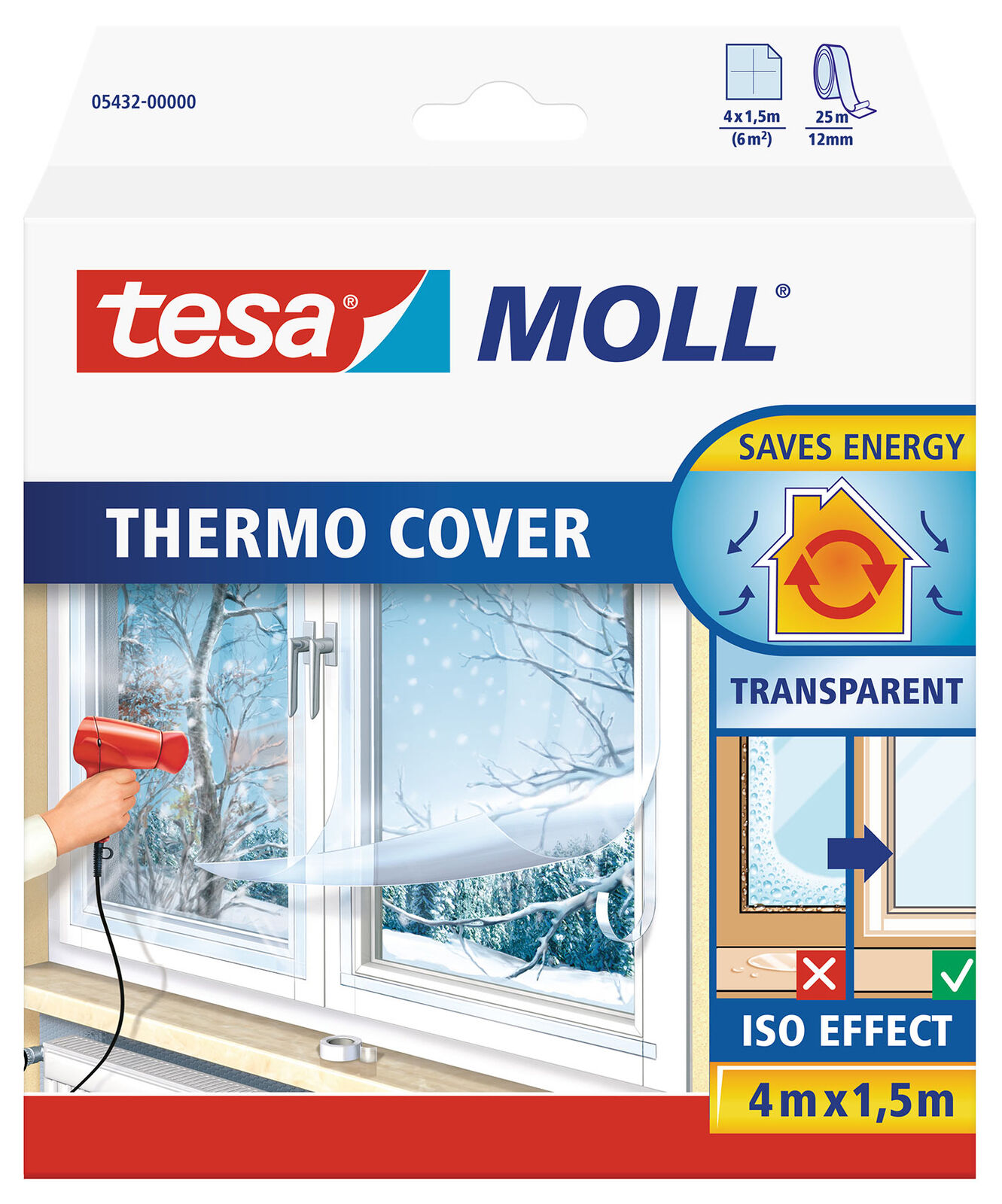 tesamoll fensterisolierfolie thermo cover transparent. Black Bedroom Furniture Sets. Home Design Ideas