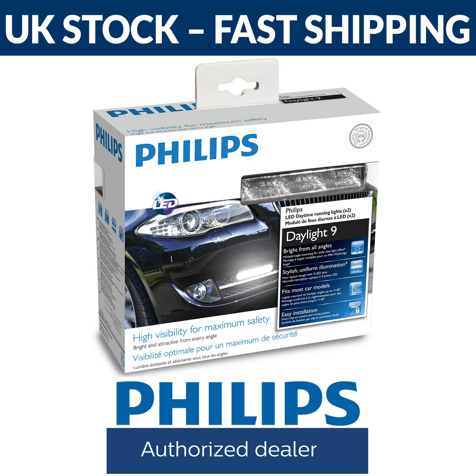 Philips Daylight 9 Drl Daytime Running Light System 12831wledx1 Wiring Lights Drls On A Caravan 1 Of 3free Shipping